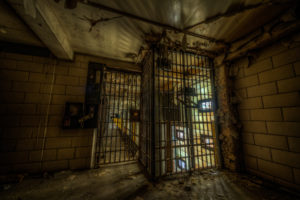 entrance to cell block